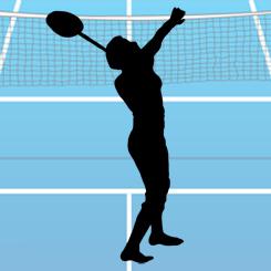 Badminton clear shot
